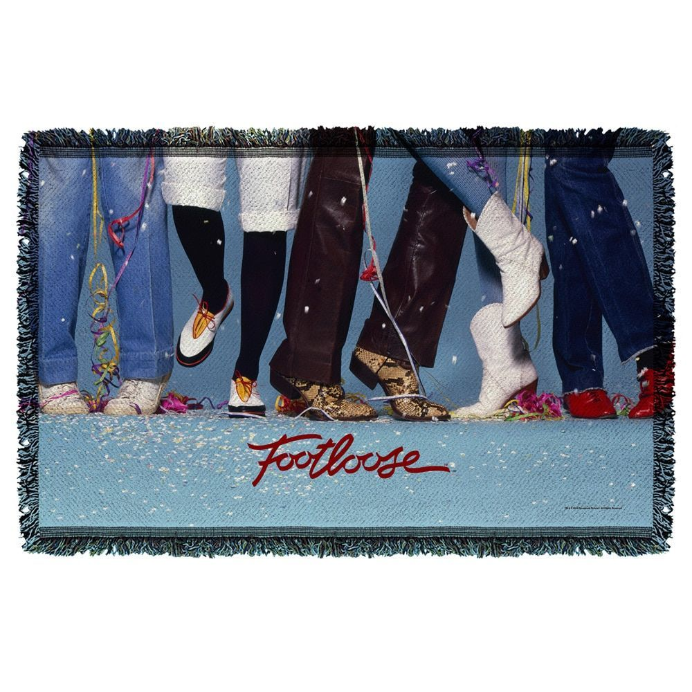 Footloose/Loose Feet Graphic Woven Throw