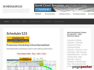 Production Scheduling in Excel Spreadsheet - Production Schedule - Pricing Spreadsheet Template