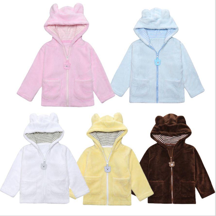 56c028a5fed0  10.34 - Infant Cute Boys Girls Long Sleeve Hoodied Coral Fleece ...