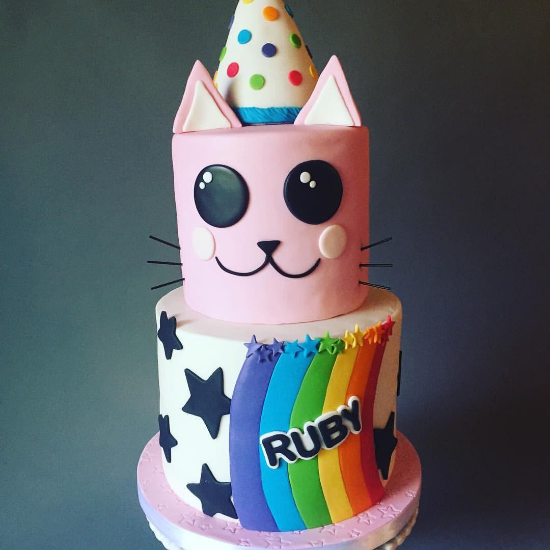 Kitty Birthday Cake I Did Last Weekend I Saras Sweets
