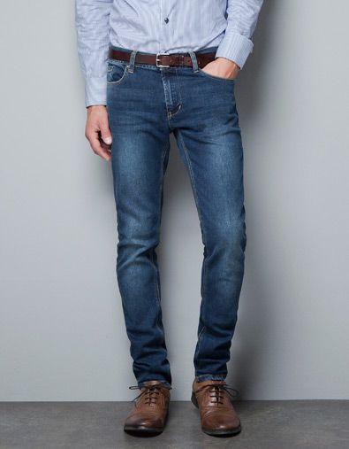 Slim Fit Jeans Zara Menswear 50s Style Men