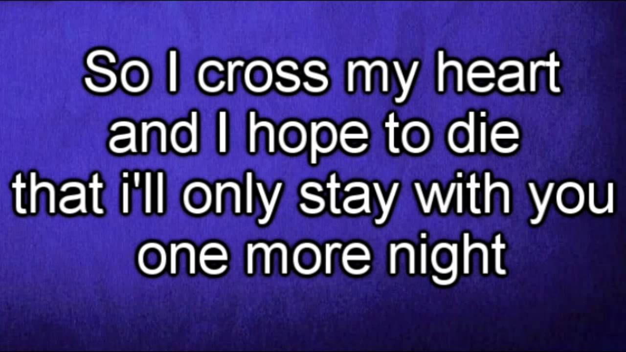 Maroon 5 One More Night Lyrics Hd One More Night Nights Lyrics Sing Along Songs