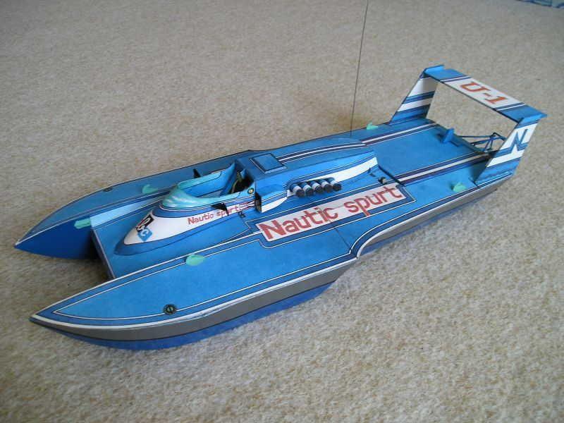 nautic spurt hydroplane free boat paper model download
