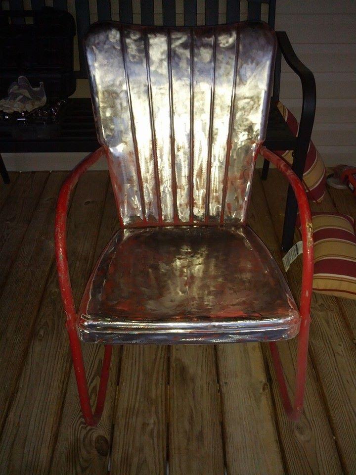 1939 Cleveland Welding Vintage Metal Lawn Chair.  Www.midcenturymetalchairs.com · Vintage Outdoor Furniture