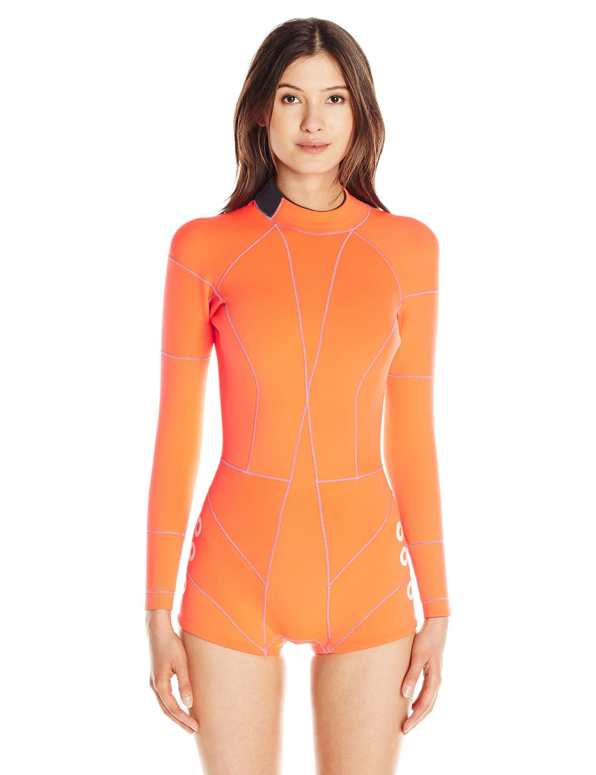 Cynthia Rowley Women s Fiber-Lite Wetsuit One Piece Swimsuit with Faux  Grommets f09d69139