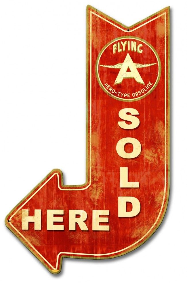 """Vintage Flying A Decal Sticker Distressed Oil Gas Old school 4/"""" Inch 3 for 1"""