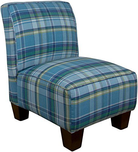 Best Skyline Kids Armless Chair Preppy Plaid Blue 400 x 300