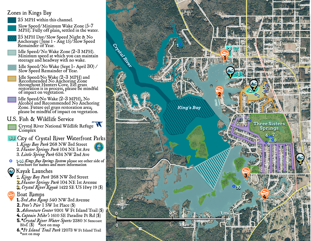 Three Sisters Springs Florida Map.Three Sisters Springs Crystal River Florida Clearwater Beach