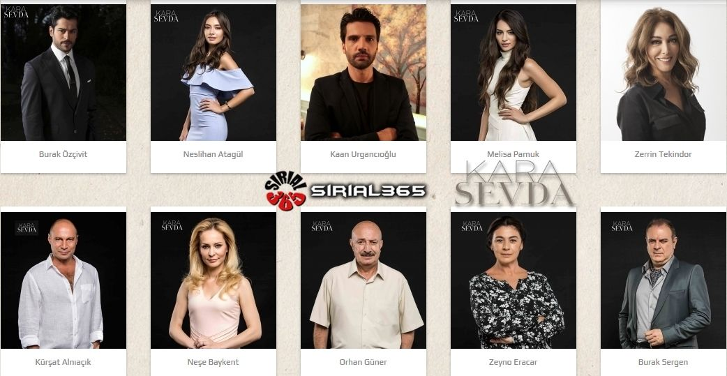 Sirial365 Kara Sevda Cast Names Kara It Cast Celebs