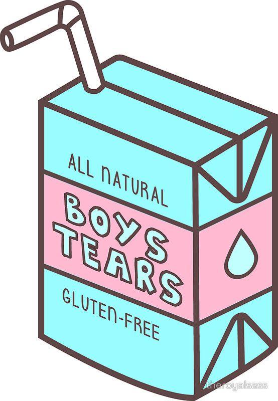 Boys Tears Juicebox Sticker By Royal Sass Tumblr Stickers Print Stickers Boys Sticker