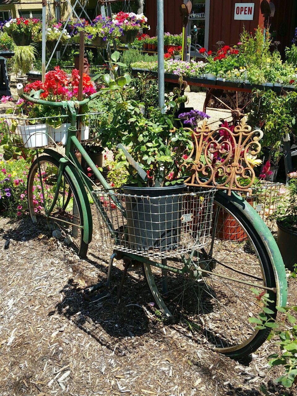 Uncategorized Bicycle Planters bicycle basket planter secret garden pinterest planter