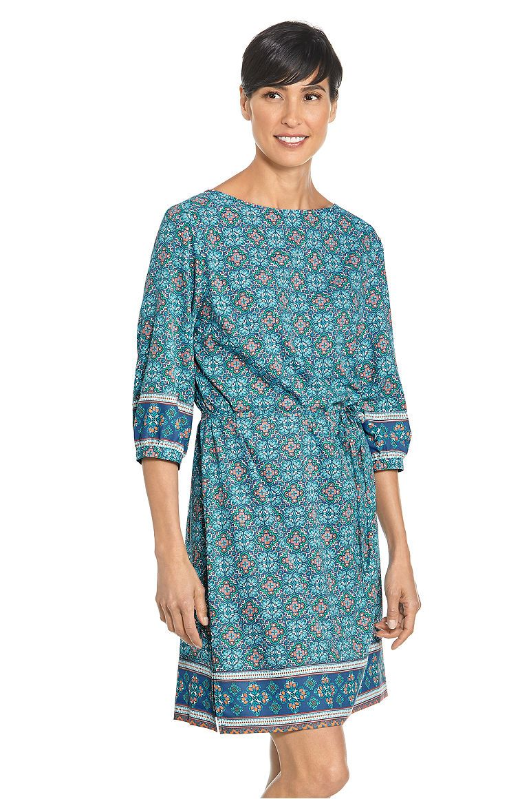 Women\'s Garden Party Dress UPF 50+ | Printed silk and 50th
