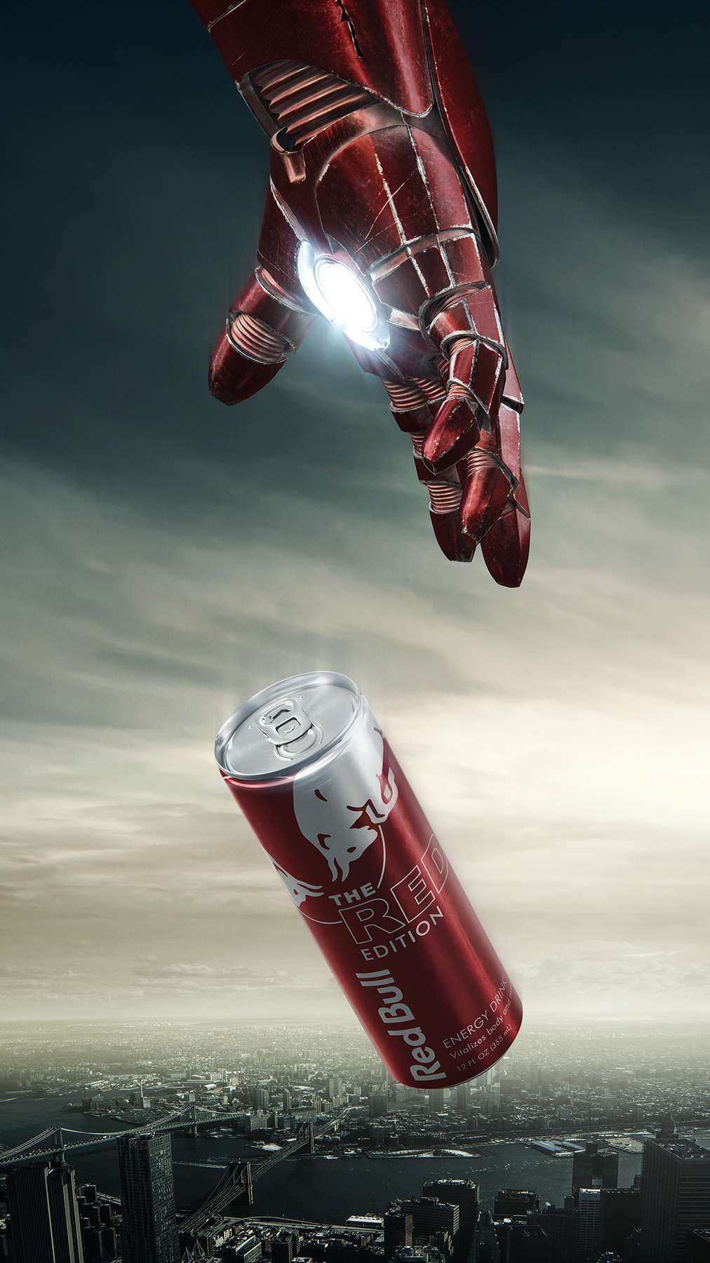 Avengers RedBull iPhone Wallpaper Advertising design