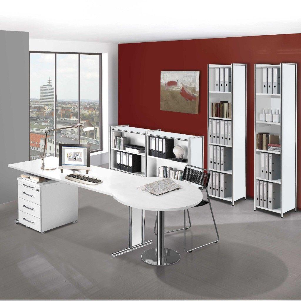 Büromöbel weiß  Schreibtisch Artline Transparent C-Fuß, Rechteck | Weißer ...