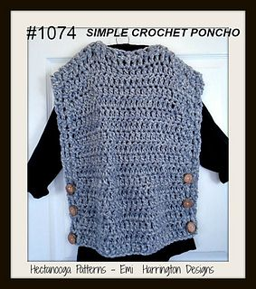1074-SIMPLE WRAP PONCHO