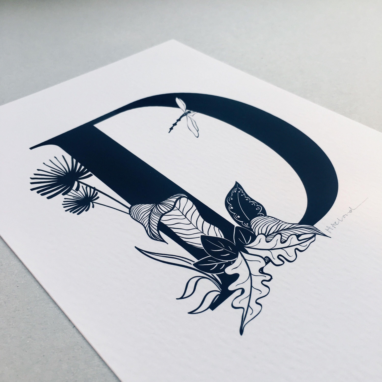 14++ D letter design drawing inspirations