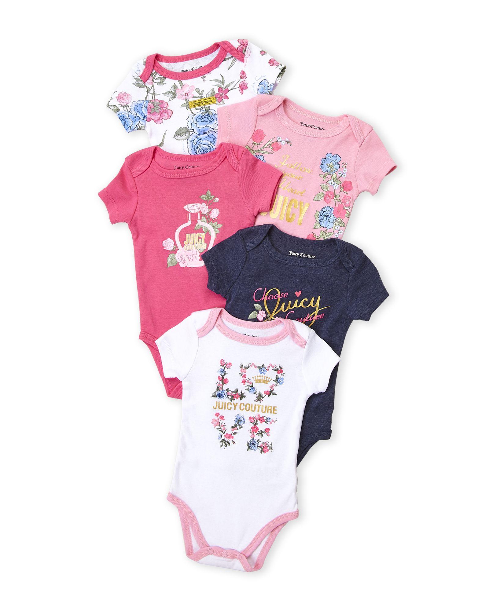 e63ef2e96 Juicy Couture (Newborn Girls) 5-Pack Floral Bodysuit Set | *Apparel ...