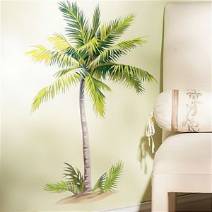 Wallies Palm Tree Wall Stickers 6 Decals Tropical Mural Leaves