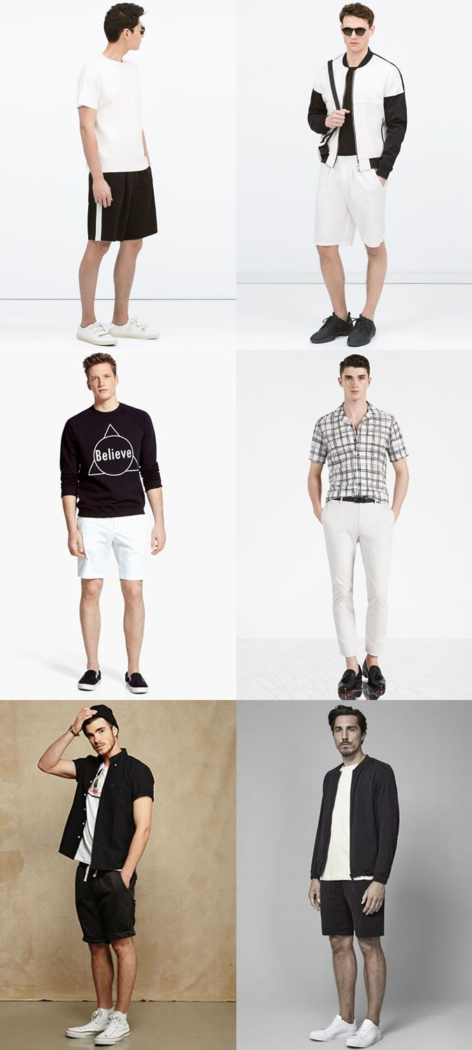 9149c3c1ce4 Men s Summer Monochrome (Black and White) Outfit Inspiration Lookbook