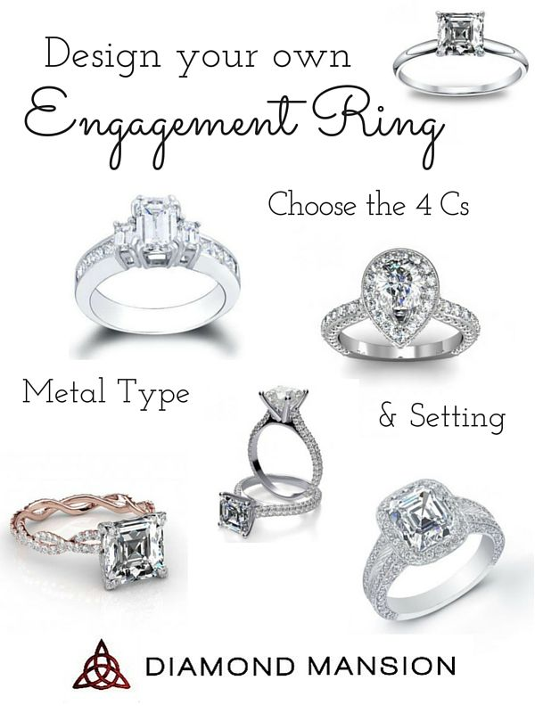 Create Your Own Enement Ring | Design Your Own Engagement Ring With Diamond Mansion Engagement Rings