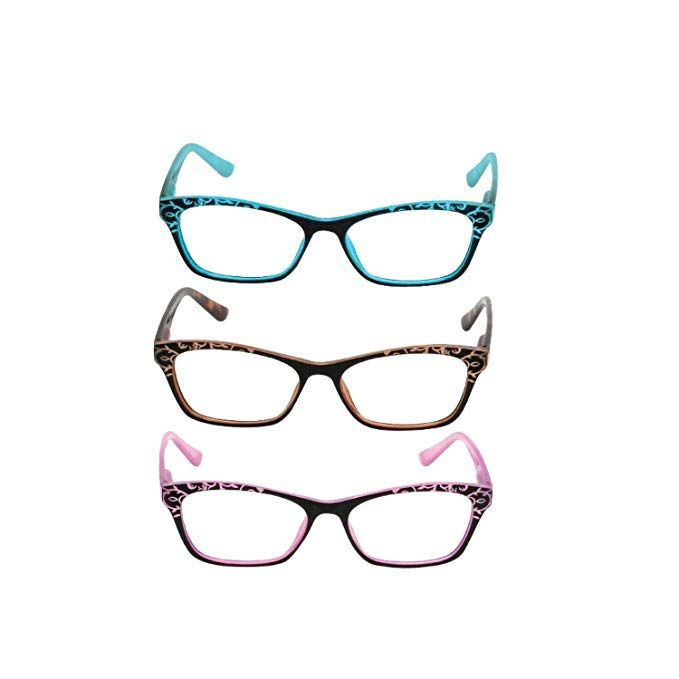 cdec21ce703 3 Pack Reading Glasses for Women - Anti-Reflective Coating   Blue Light  Blocking Review