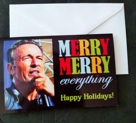 Bruce Springsteen Christmas cards holiday cards by borntolovebruce – Bruce Springsteen Birthday Card