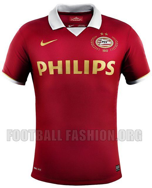 d9e018e1ea8 PSV Eindhoven 100th Anniversary Nike 2013 14 Home Kit