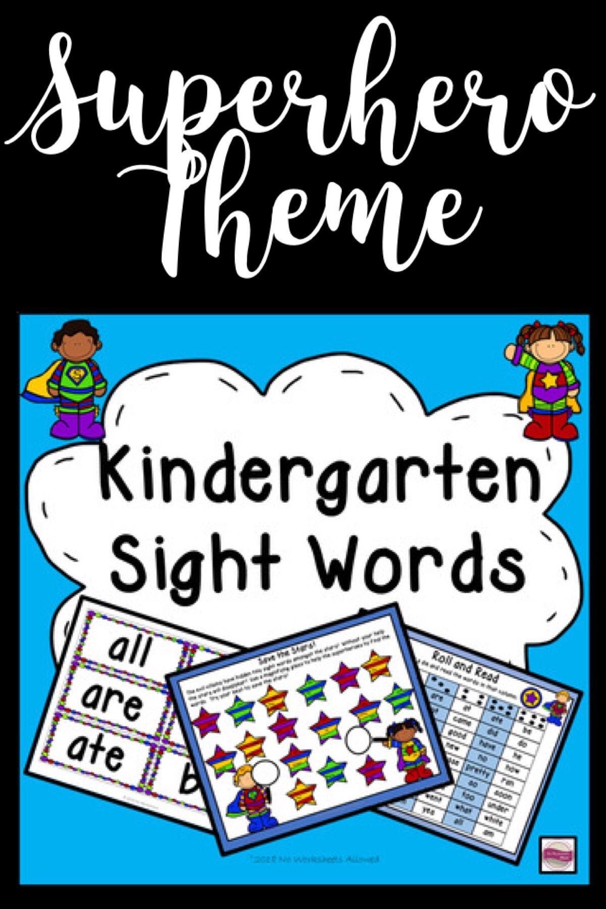 Kindergarten Sight Word Games And Activities Superhero