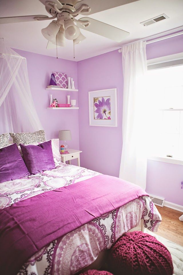 10 Home Interior Ideas In Radiant Orchid: Pantone Color Of The Year-Radiant Orchid .. More Images On The Blog {ww.NewlyLoved.com