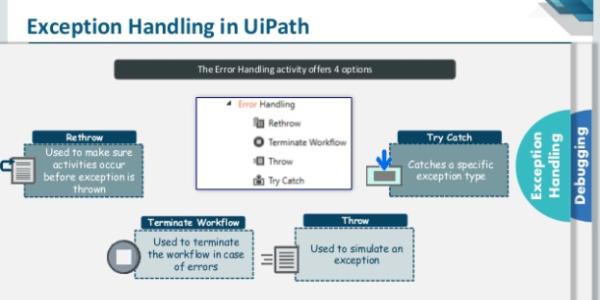 Lesson 12 – Debugging & Exception Handling | UiPath | Free, Handle