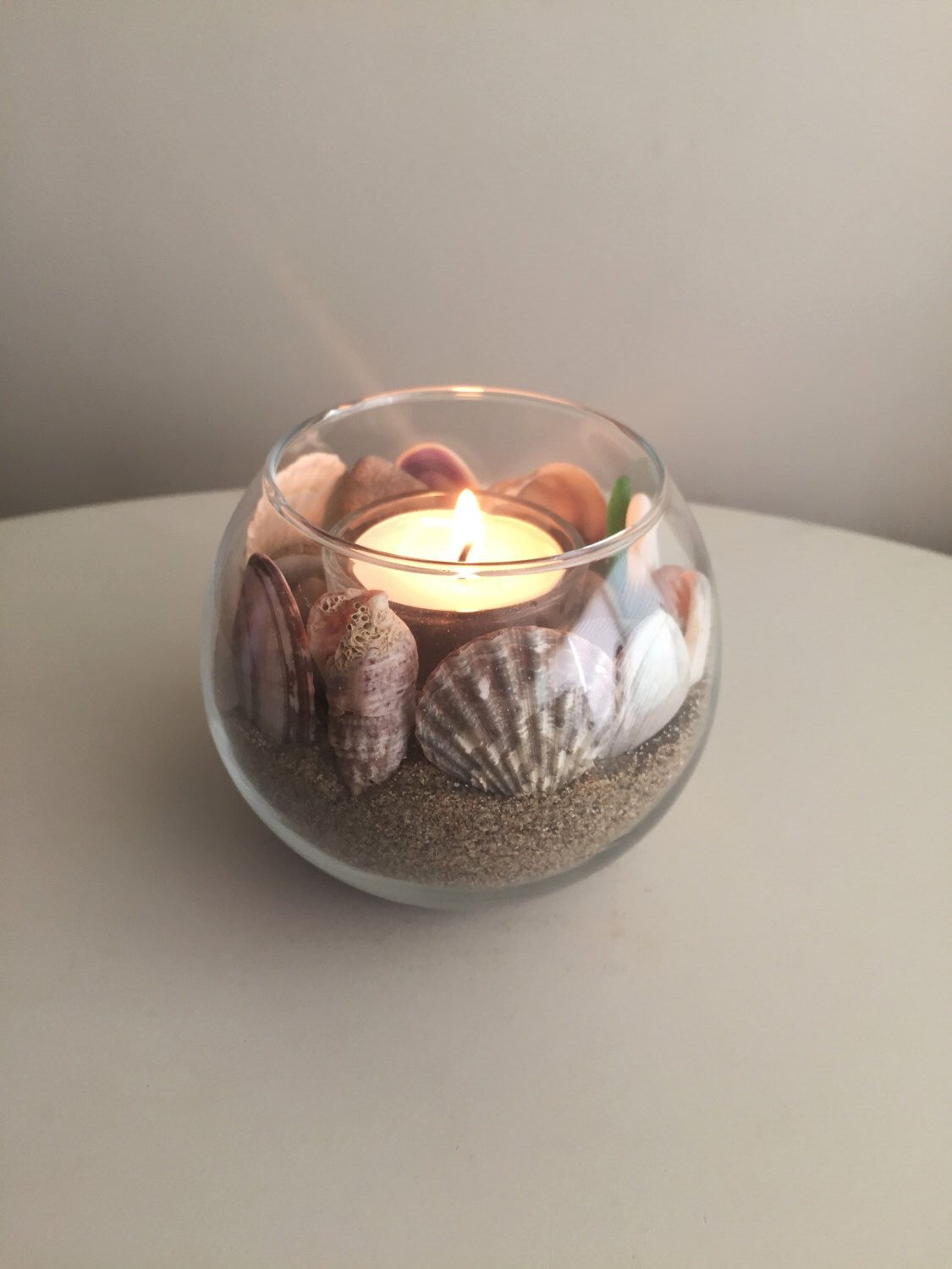 Beach Candle Holder/ Nautical Candle Holder/ Sand Decor ...