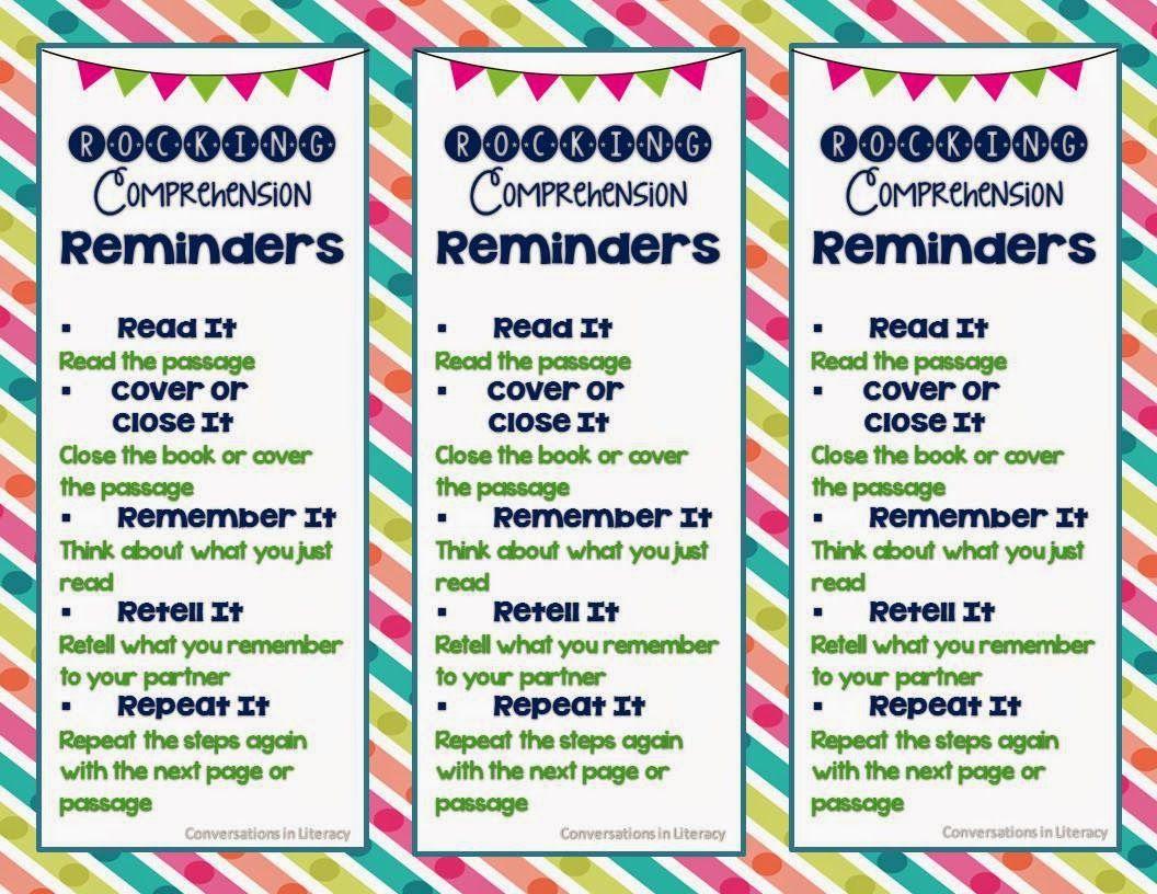 Rocking Comprehension Reminders! | Language Arts | Pinterest ...
