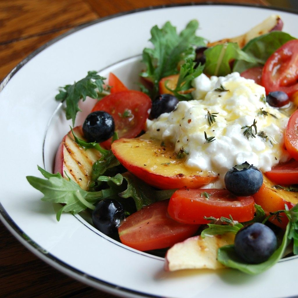 Grilled Summer Salad Hungry Foodies Recipe Cottage Cheese Salad Healthy Recipes Recipes