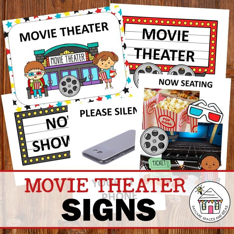 Movie Theater Dramatic Play Pack Pre K Printable Fun Dramatic