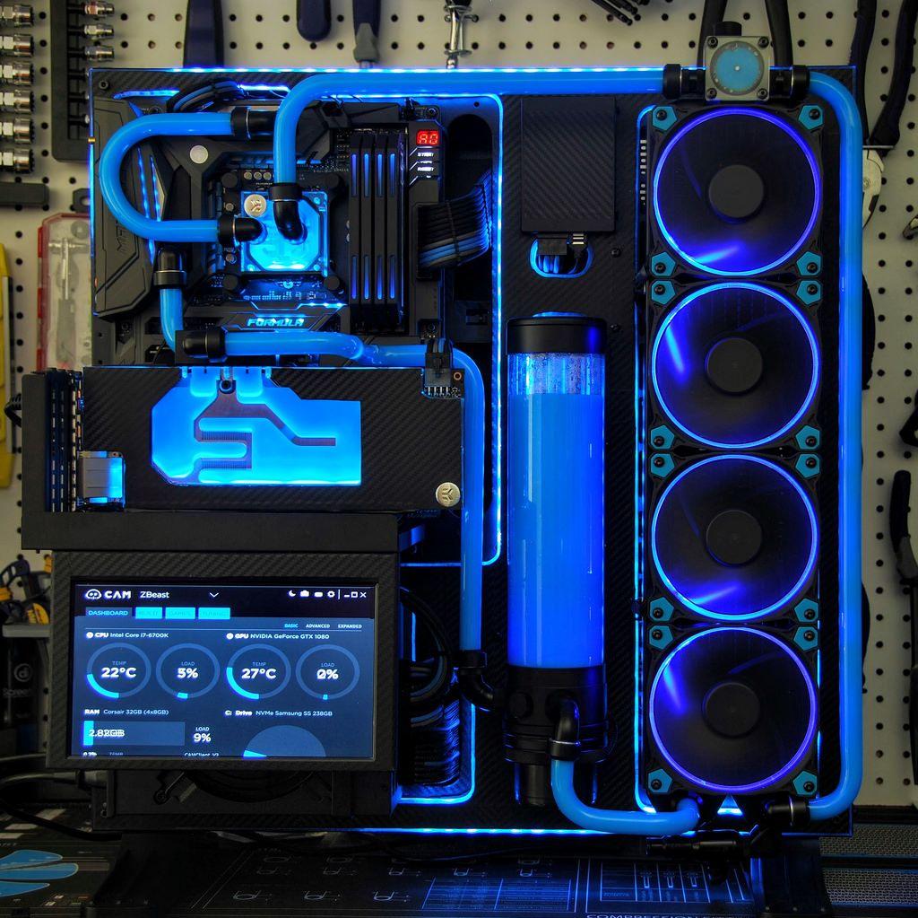 Thermaltake P5 Asus Rog Corsair Dominator Intel I7 6700k