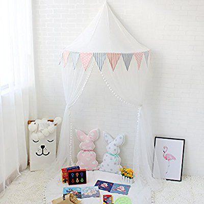 Lebze Kinder Bett Baldachin, Kuppel Baumwoll Betthimmel Moskitonetz  Insektenschutz Für Baby Innen Lese Schlafzimmer Ankleidezimmer, Prinzeu2026