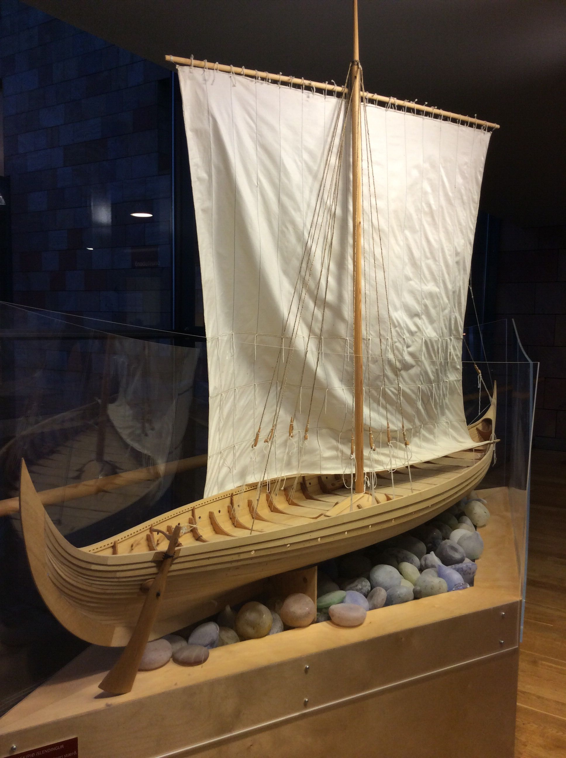 Viking ship replica in the Keflavik Airport, Iceland
