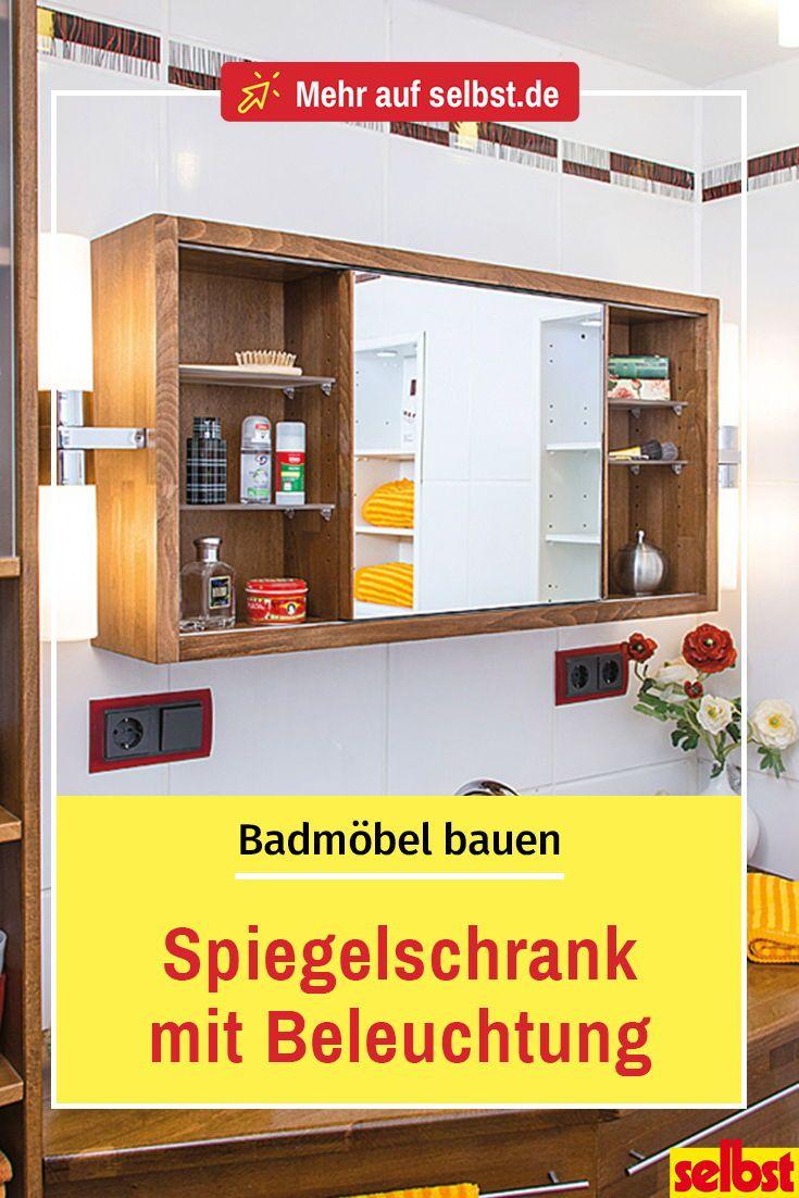 Badmobel Bauen Selbst De Spiegelschrank Spiegelschrank Beleuchtung Spiegelschrank Bad Holz