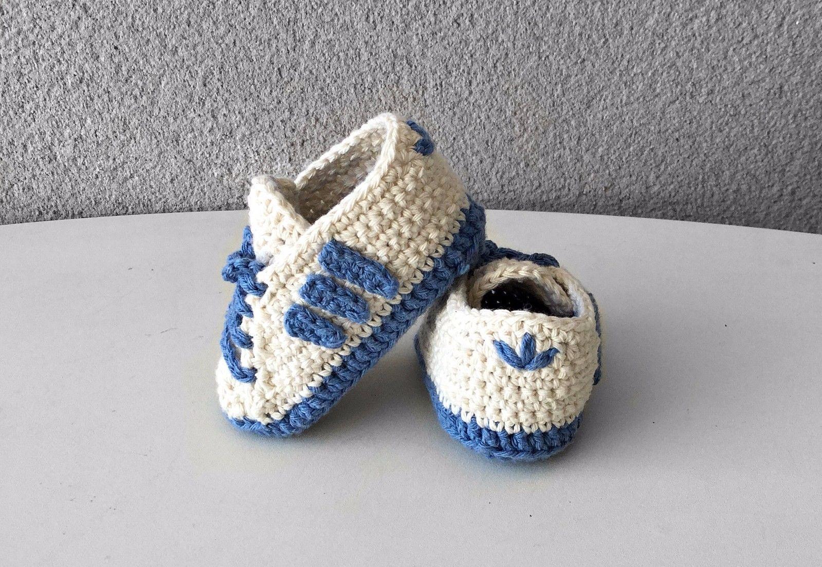 Andrew Halliday proyector Elección  Zapatos zapatitos bebe crochet, patucos talla 9,5 cm estilo Adidas | Bebés,  Ropa, calzado y complementos, Calzado | eBay! | Baby shoes, Crochet baby,  Shoes