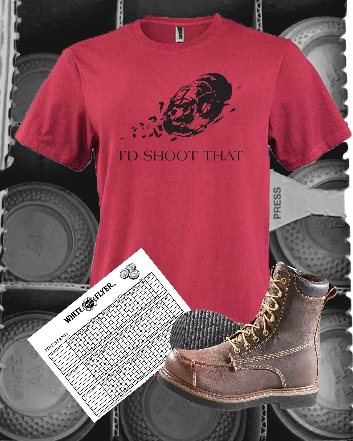 A perfect shirt for anyone into shooting trap, skeet, or