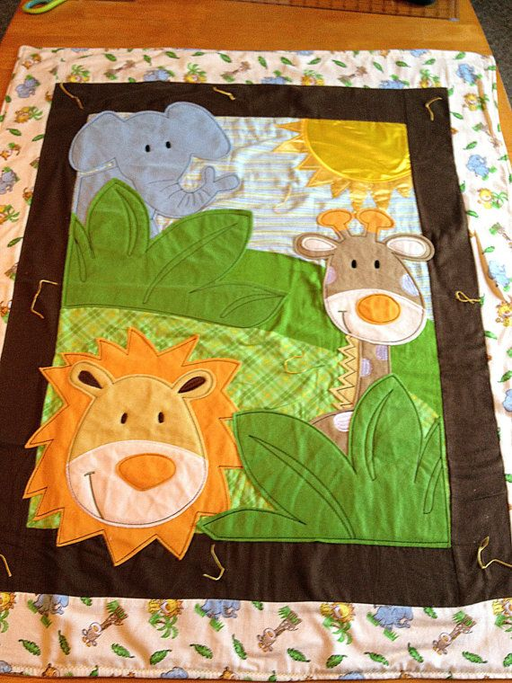 Safari Friends Baby Quilt with Fleece by artisticsouldesigns. How ... : quilting for babies - Adamdwight.com
