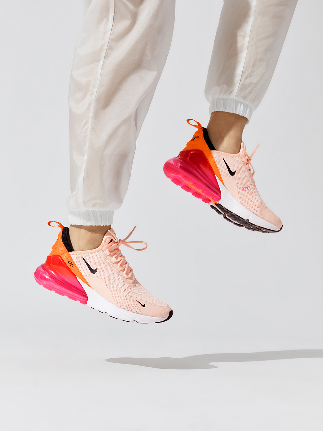 W Air Max 270 In Washed Coral Black Laser Fuchsia Orange Peel