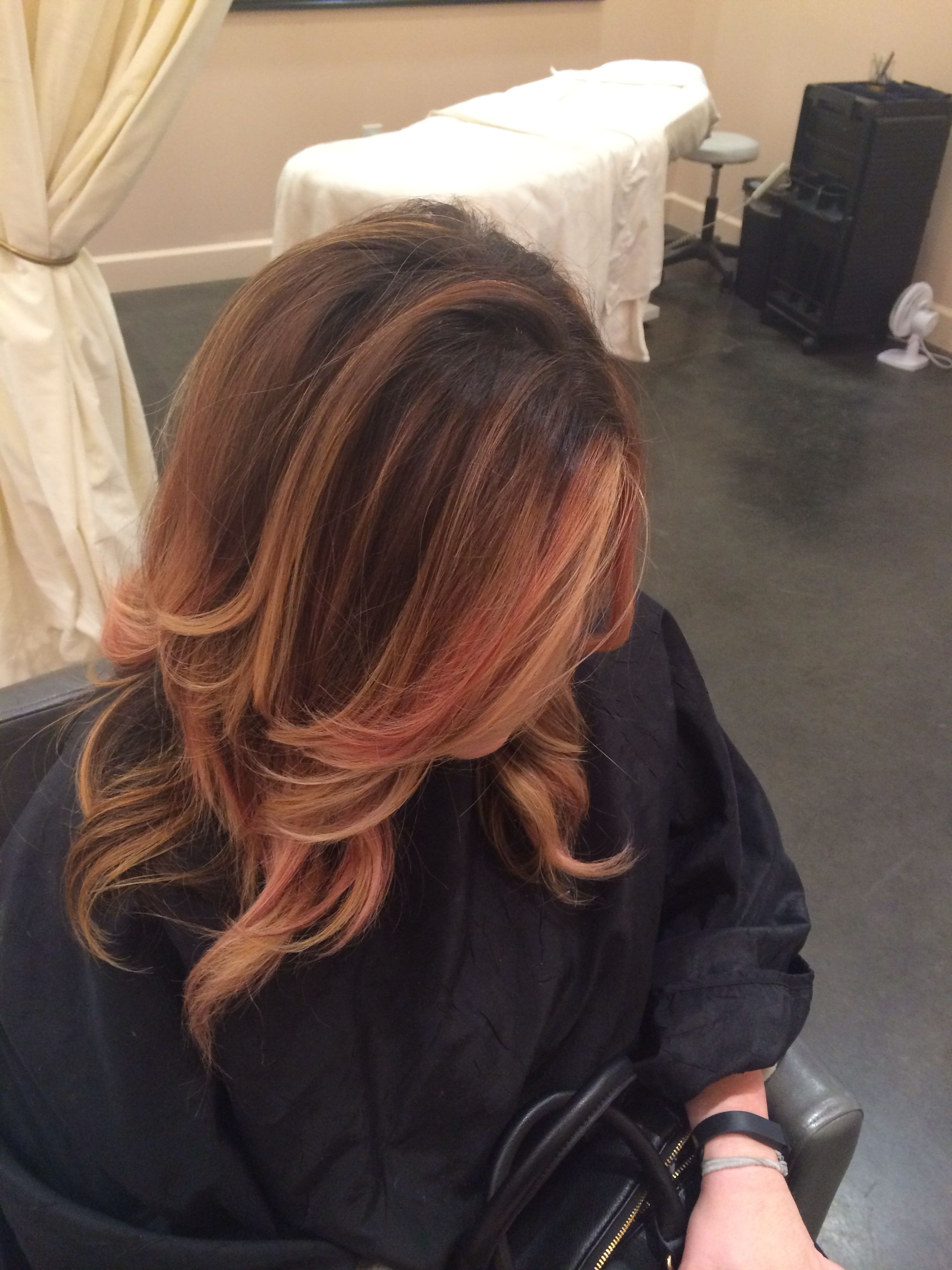 Rose gold lowlights, just funky enough to make my hair fun! Devin @ Salon Scarlet is amazing!