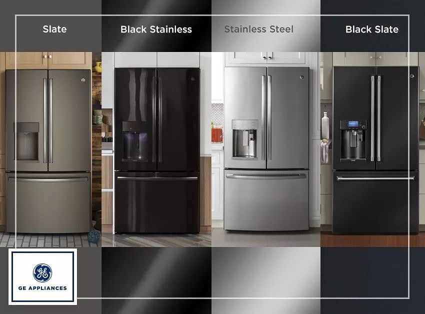Slate Kitchen Appliance Package Granite Countertops Ge Appliances Slate, Black, Stainless, Stainless ...
