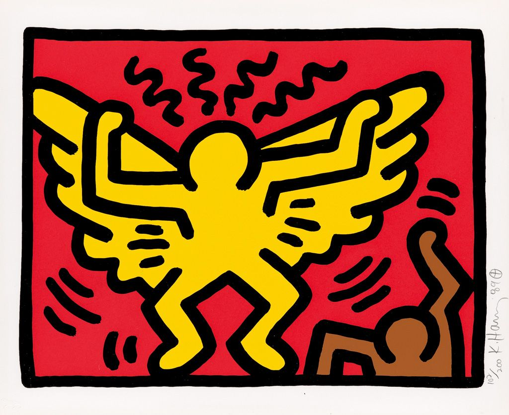 Keith Haring   Pop Shop IV (A)   1989   Hamilton-Selway   Andy ...