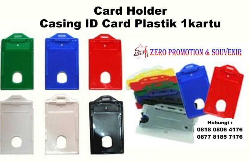 Jual Card Holder Atau Casing Id Card Plastik Kartu  Tali Id Card