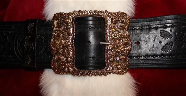 real santa claus custom belt and buckle - Santa Claus Belt