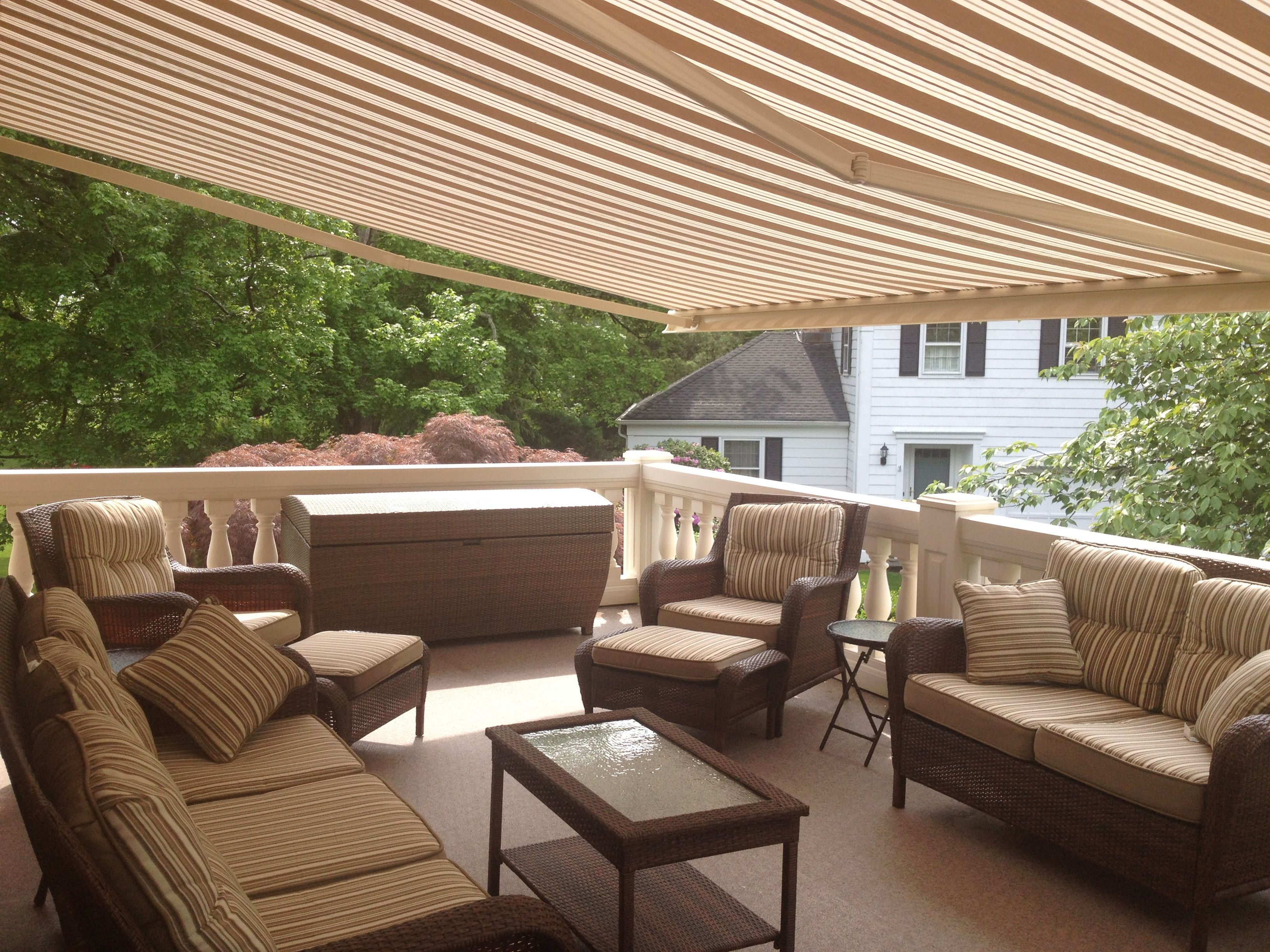 retractable costco awning home for chris ideas design sunsetter luxury motorized awnings deck patio of decks