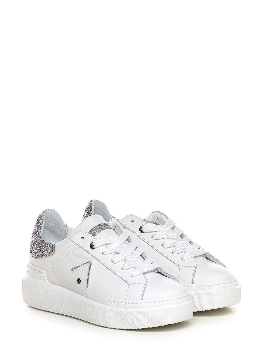 Sneaker Whitesilver Ed Parrish   Pelle vintage, Scarpe e