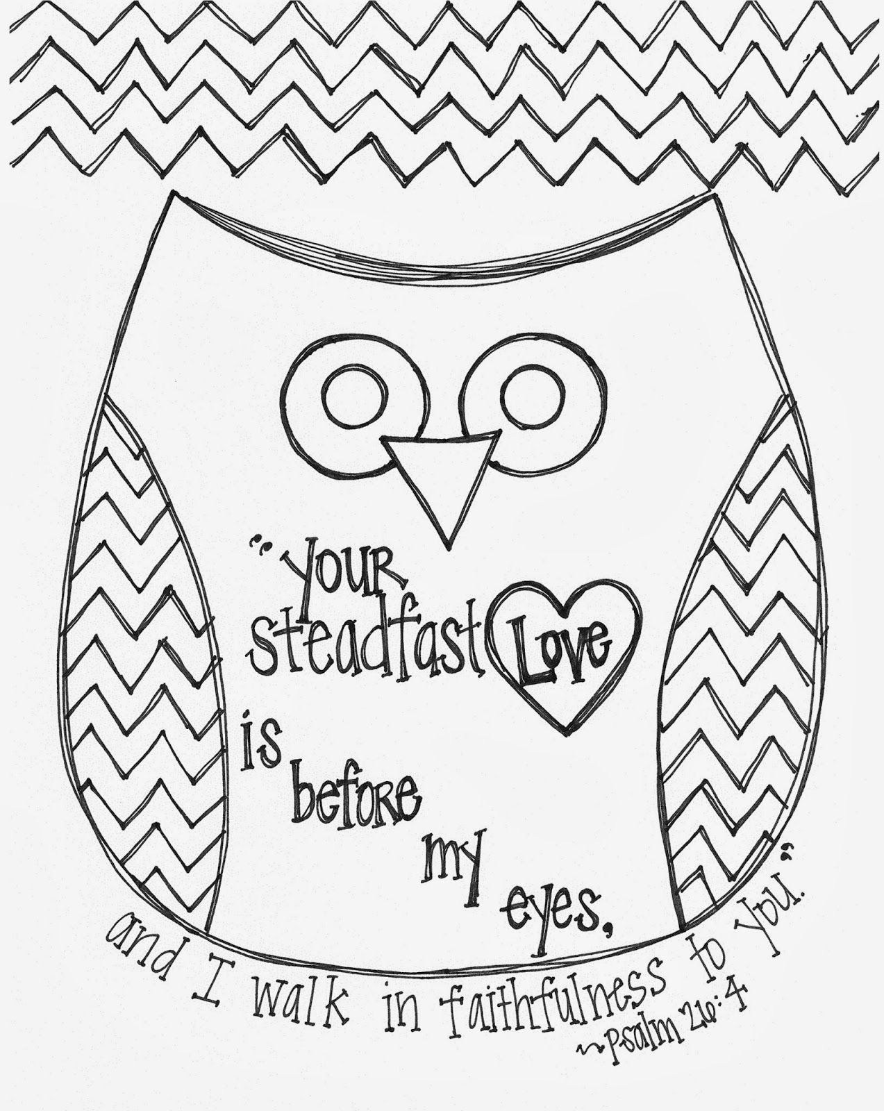 Free Valentine's Day Bible Verse Owl Coloring Page | Bible ...